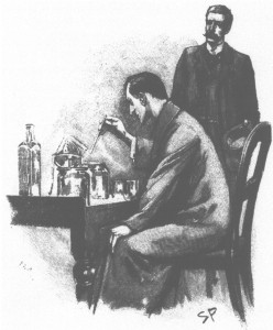 Holmes and Watson doin' some science
