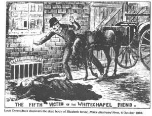 Image from the Police Illustrated News, 1888